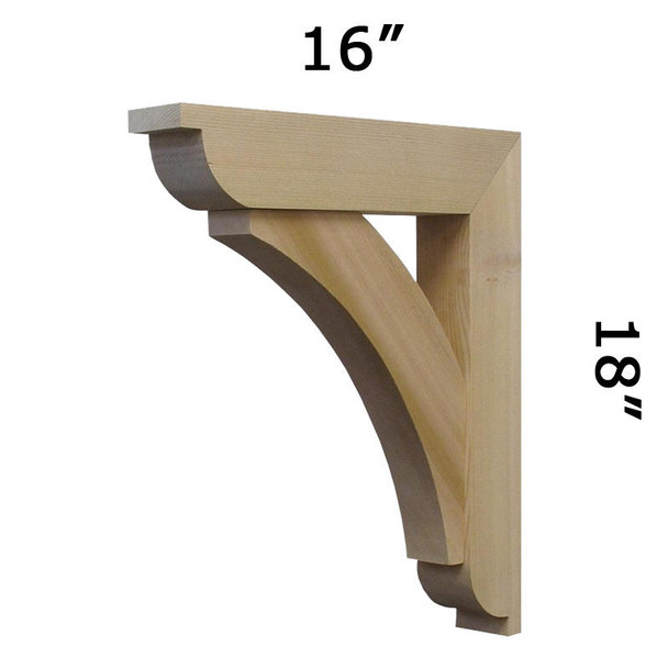 Wood Bracket 06T5 Crafted By ProWoodMarket