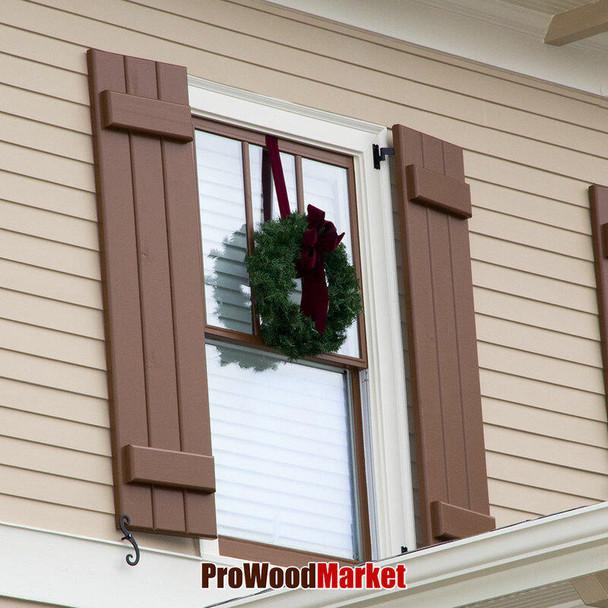 Cedar Window Shutters Width 16 1/2 Crafted By ProWoodMarket