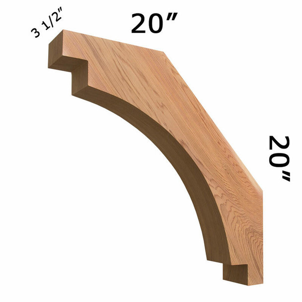 Wood Brace 67TD12 Crafted By ProWoodMarket