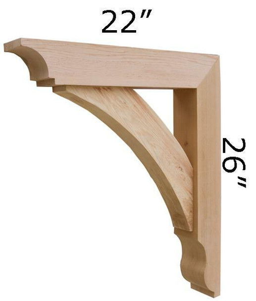 Wood Bracket 10T2 Crafted By ProWoodMarket