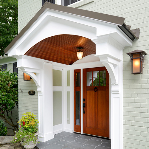 Wood Bracket - Front Porch Entrance