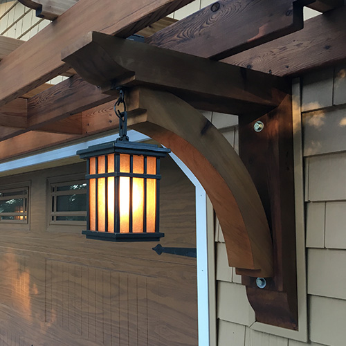 Wood Bracket - Light Fixture Support