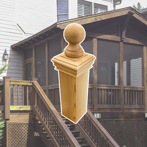Wooden Cedar Post Caps and Finial.jpg