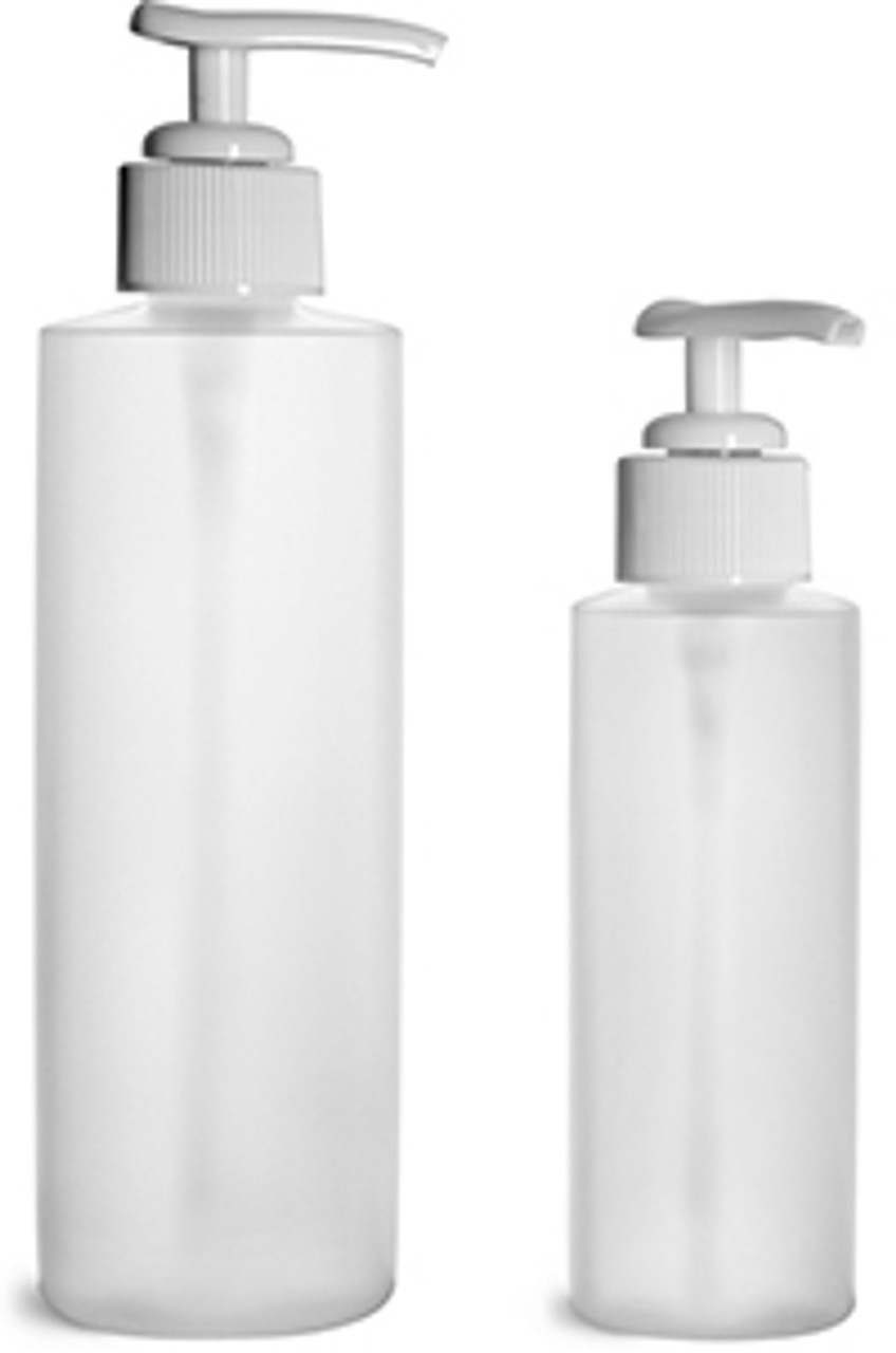 250ml shown on right with pump