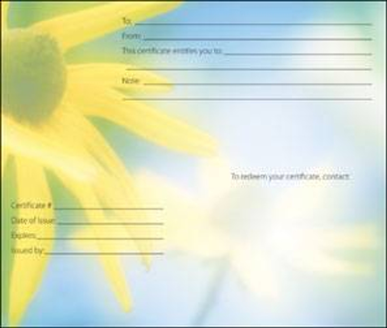 Massage Gift Card - Corn Flowers - Birthday Gift