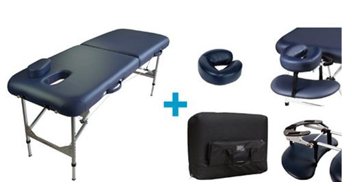 Table Package includes headrest, armrest and transit bag $470