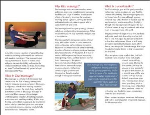 Thai Massage Therapy - Brochure 10 Pk