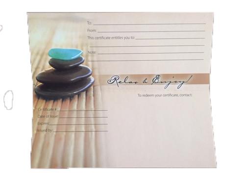 Massage Gift Card - Hot Stone Massage - Singles (1)