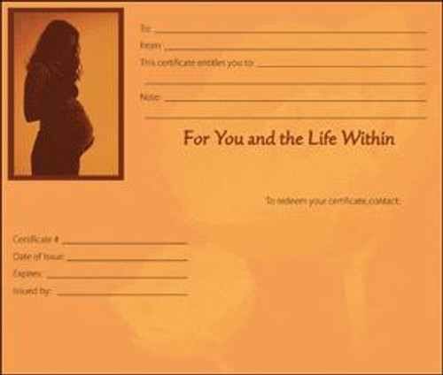 Massage Gift Card - Pregnancy Massage