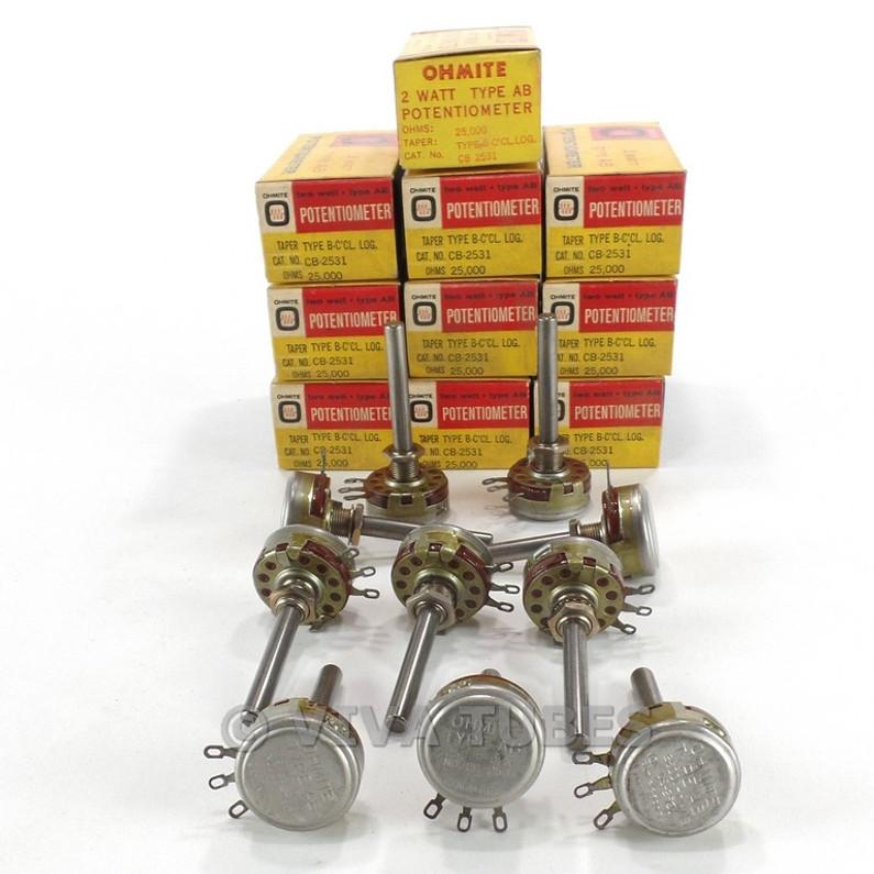250+ Fresh Vintage Parts Listings: Pots, Caps & Switches
