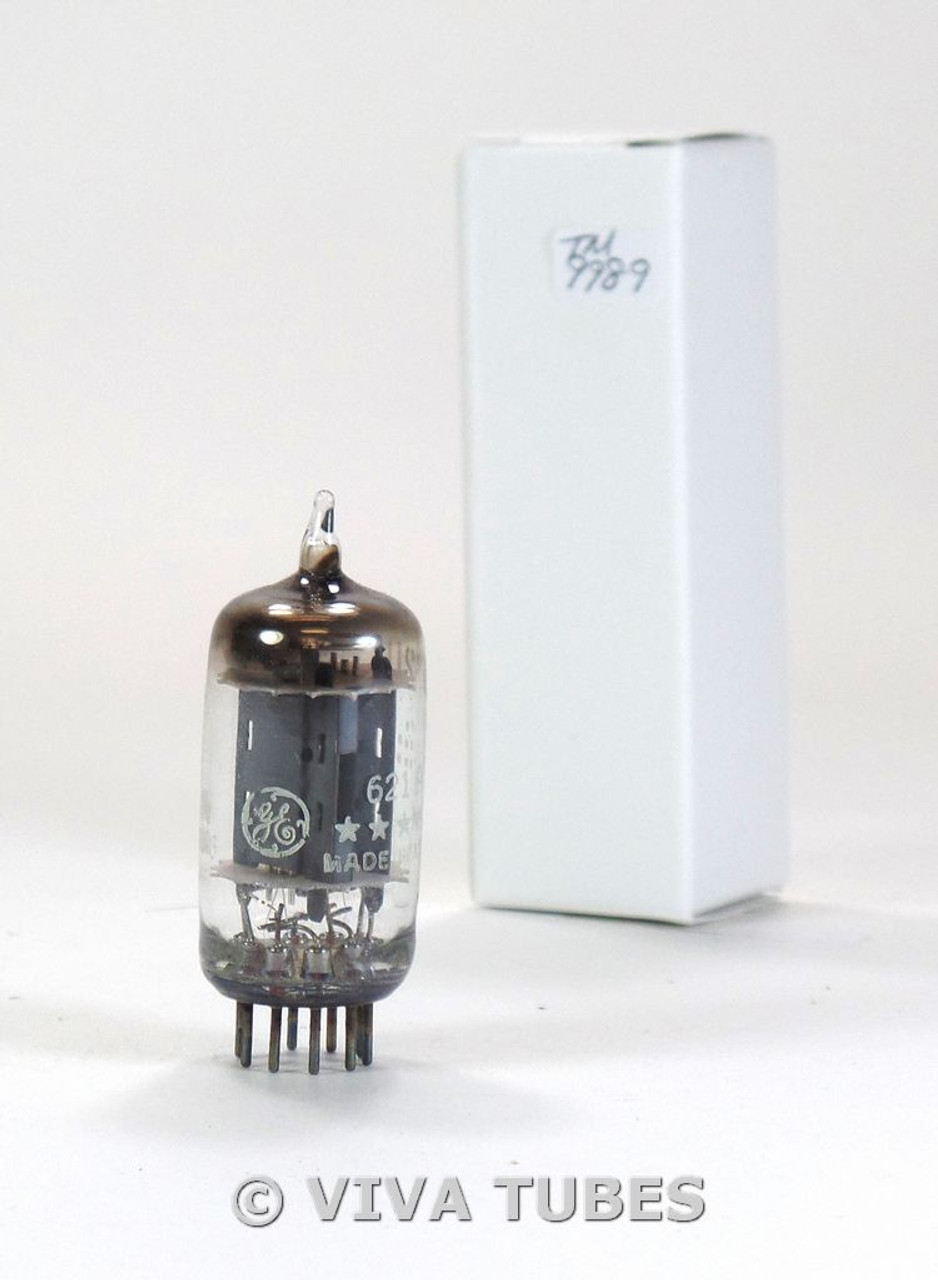 NOS GE 5-Star USA 6211A [12AU7 12AT7 Sub] Long Gray Plate Fat D Get Vacuum  Tube
