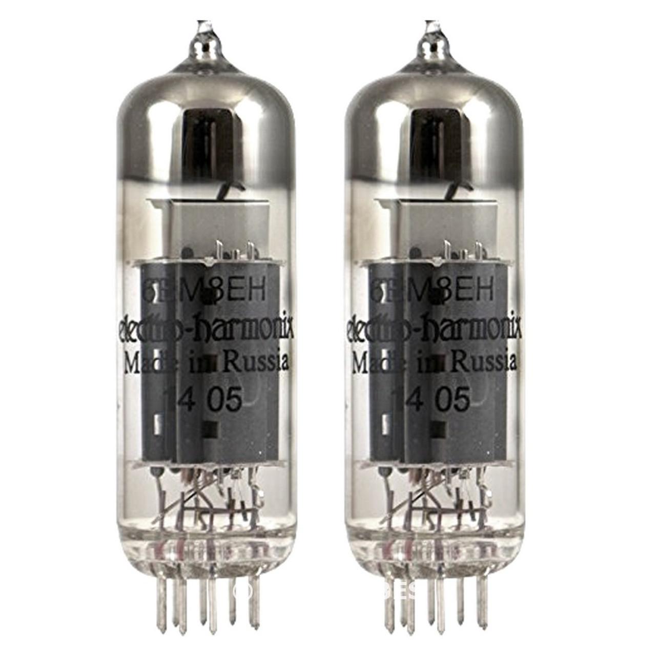 New Matched Pair (2) Electro-Harmonix 6BM8 Vacuum Tubes