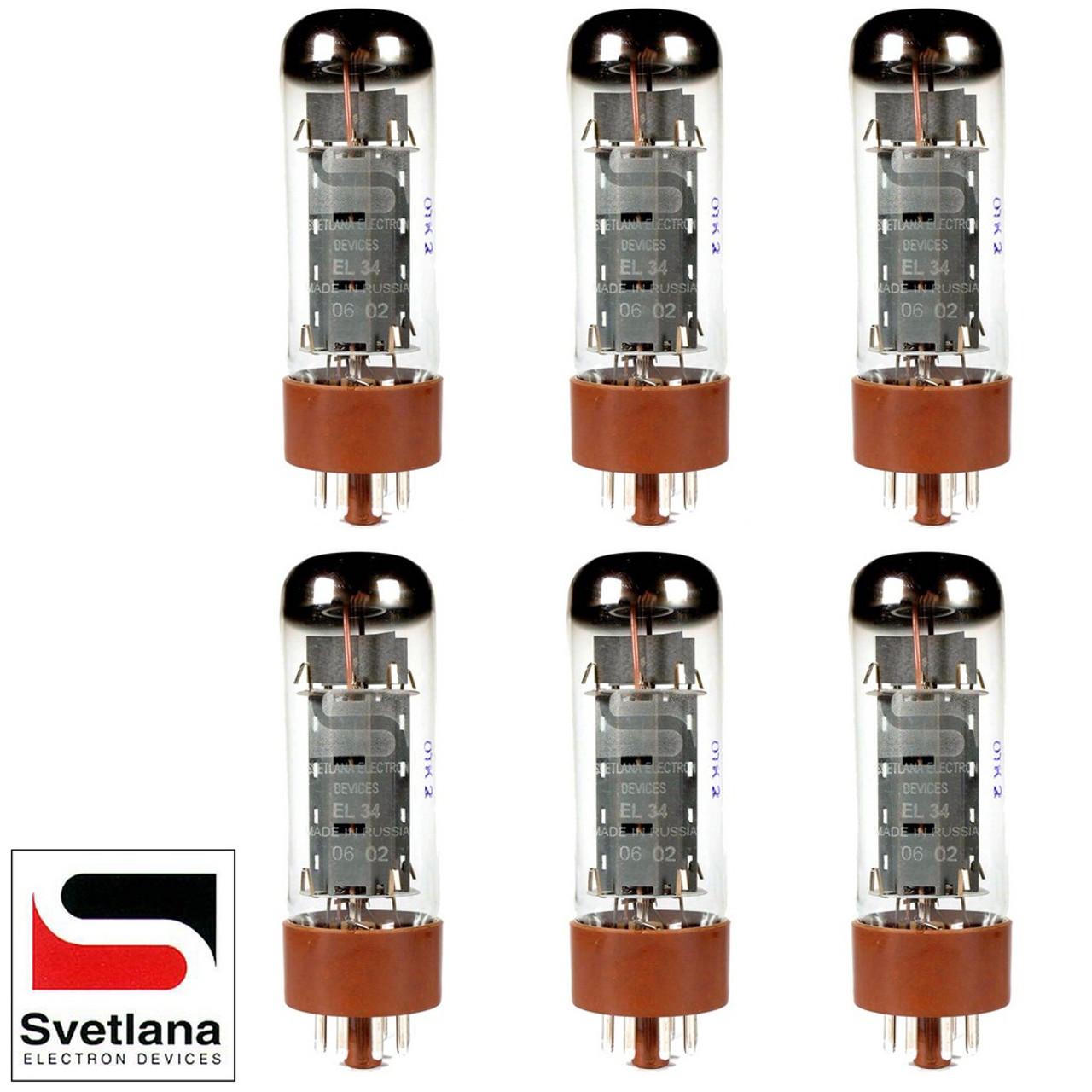 Vacuum Tubes 12AX7 ECC83 Svetlana 6 Winged =C= Reissue Gain Matched Sextet