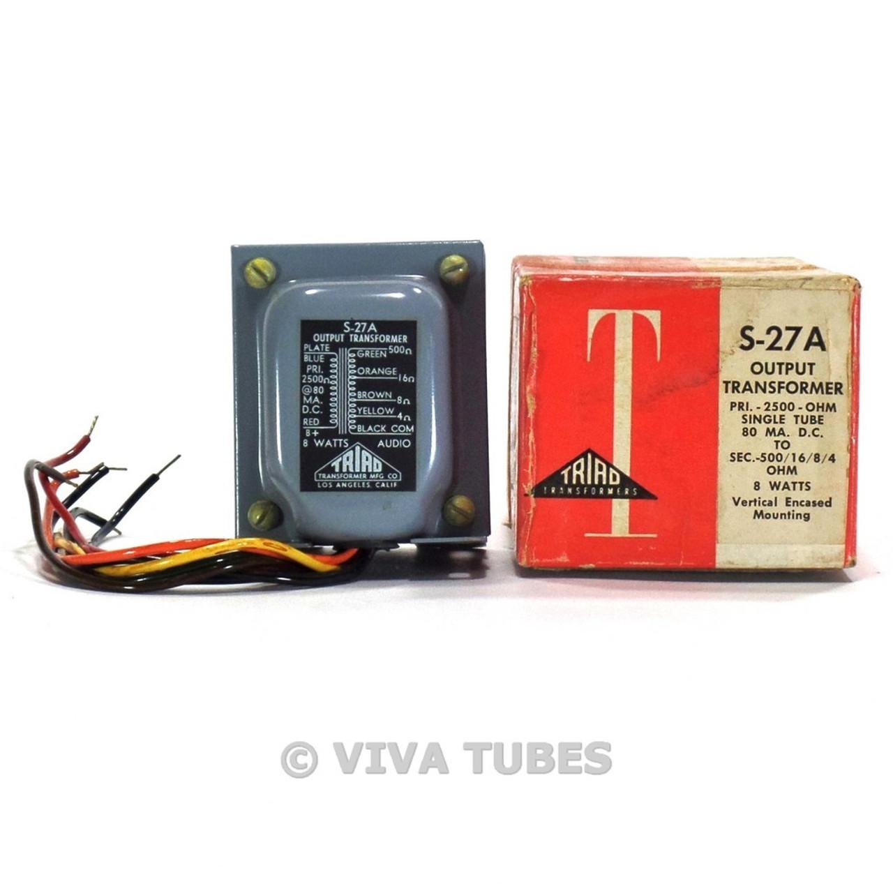 Hifi RRARE NOS NIB Triad S-27A Tube Amp Output Transformer 80mADC 8 Watts