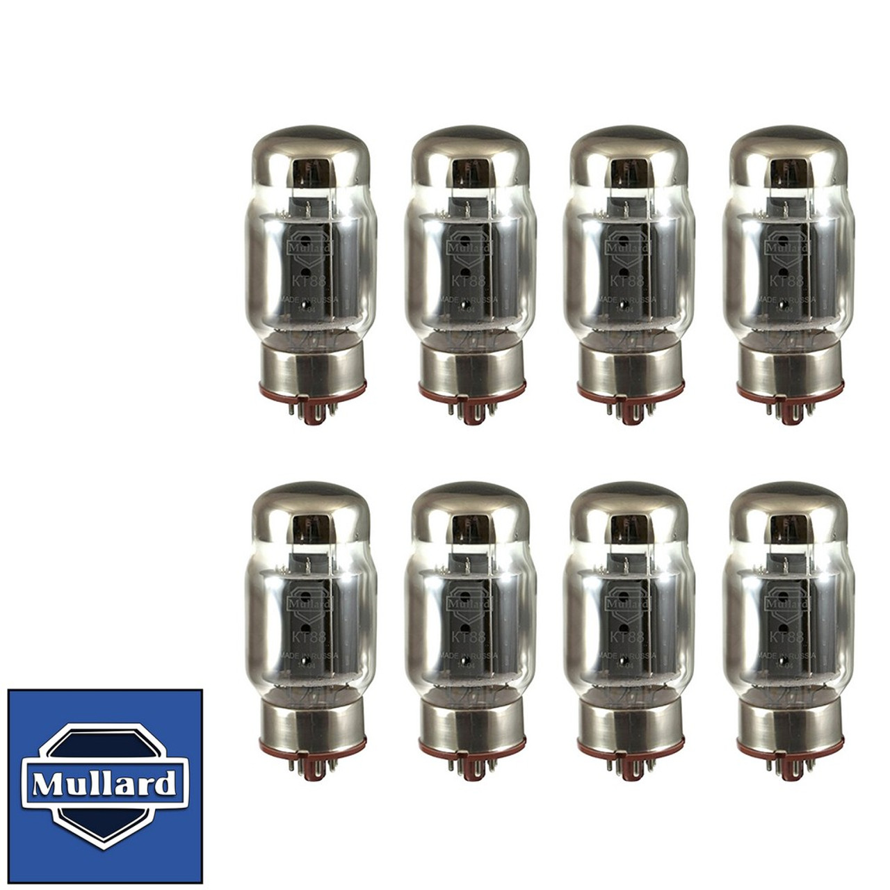 New Plate Current Matched Octet (8) Mullard Reissue KT88 / 6550 Vacuum Tubes
