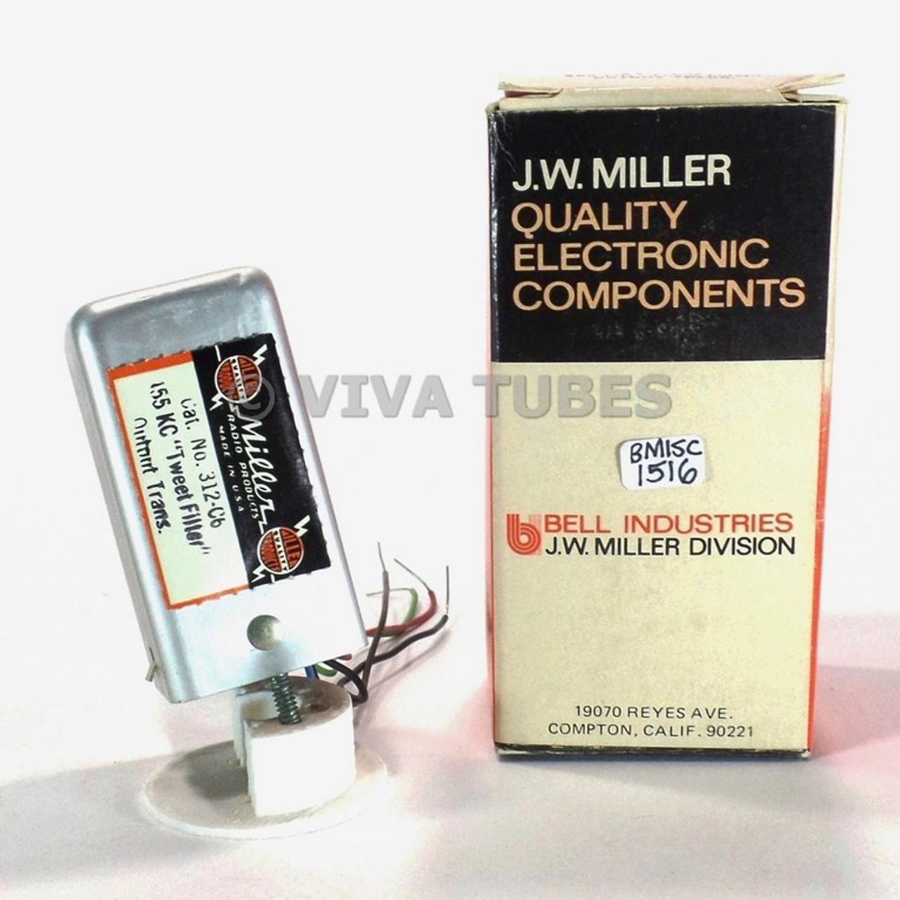 NOS NIB Miller 312-C6 Output Transformer Tweet Filter 455kHz Coil