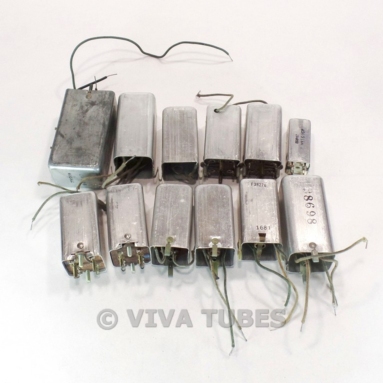 Vintage Lot of 12 Unknown IF/RF Tuning Coil Transformers Tube HAM Radio