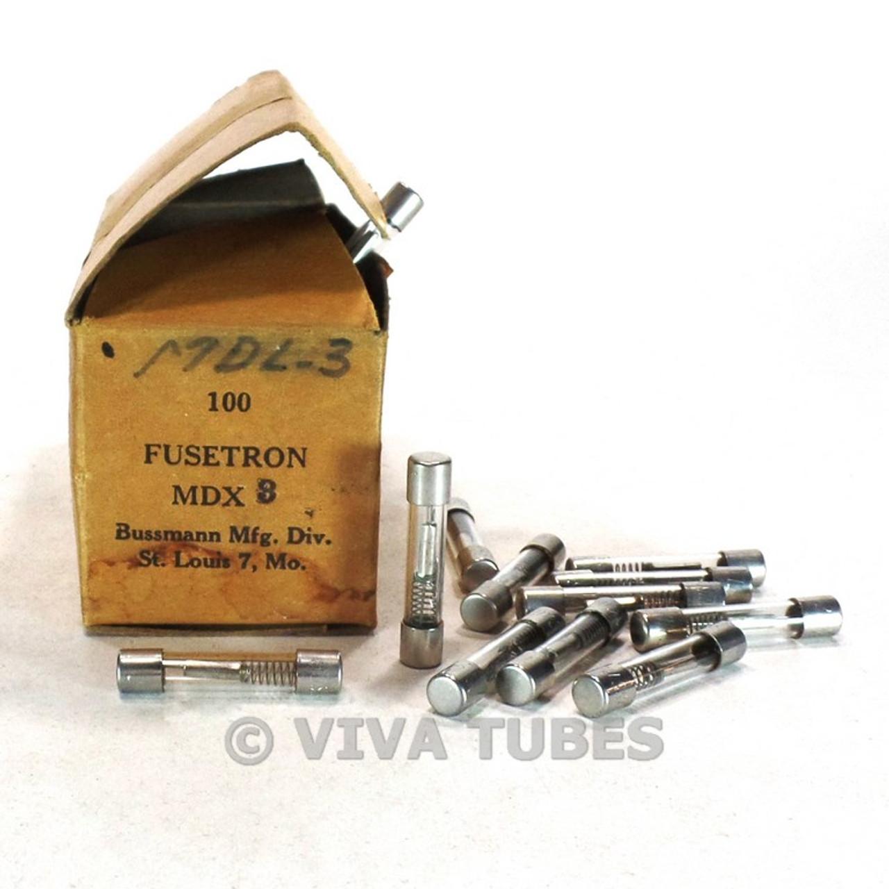 [DIAGRAM_4PO]  NOS NIB Vintage Box of 100 Miniature Bussman Fusetron Fuses Type MDX3 3 Amp  - VIVA TUBES | Vintage Box 100 Amp Fuse |  | VIVA TUBES