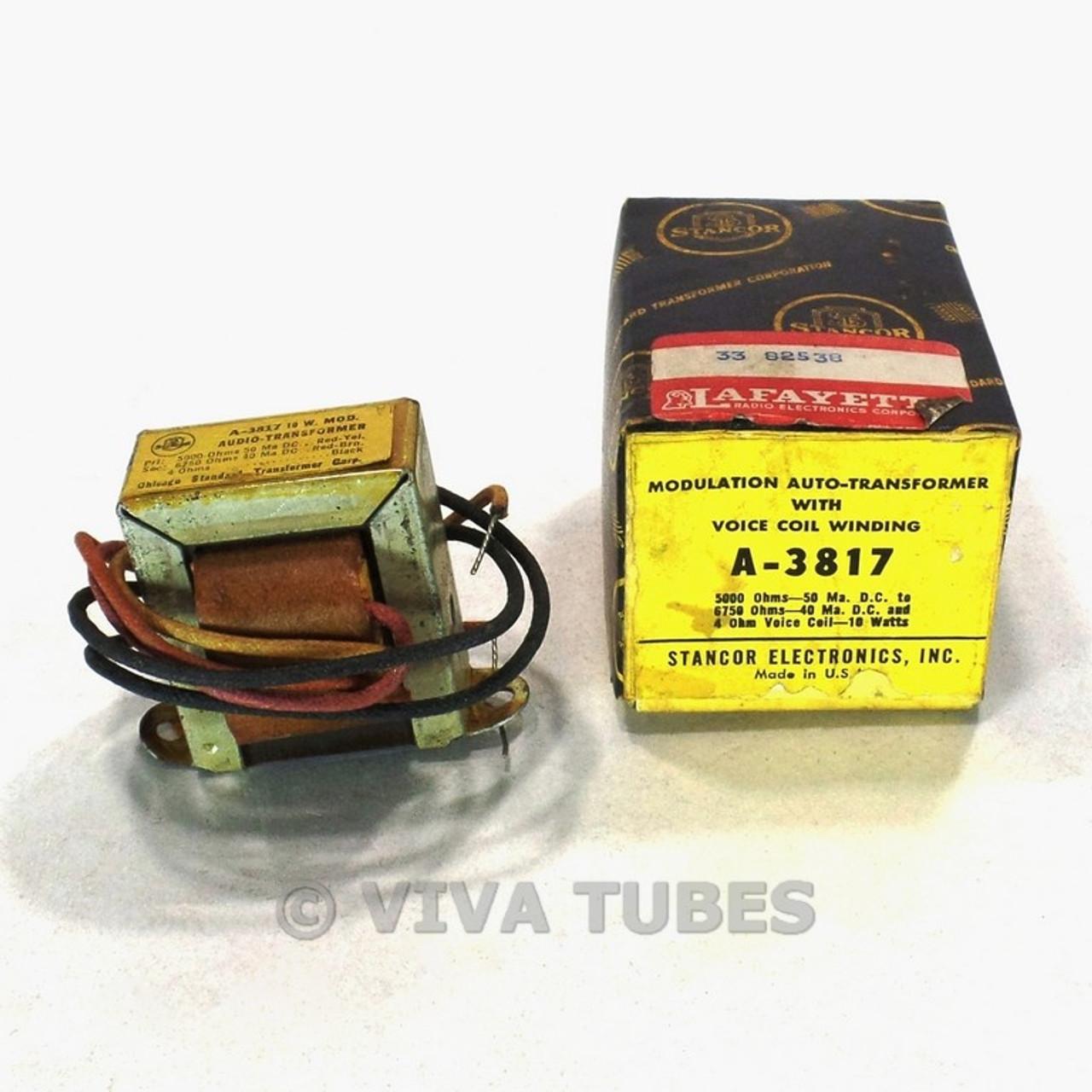 NOS NIB Stancor A-3817 Modulation Audio Output Tube Amp Transformer 10 Watt