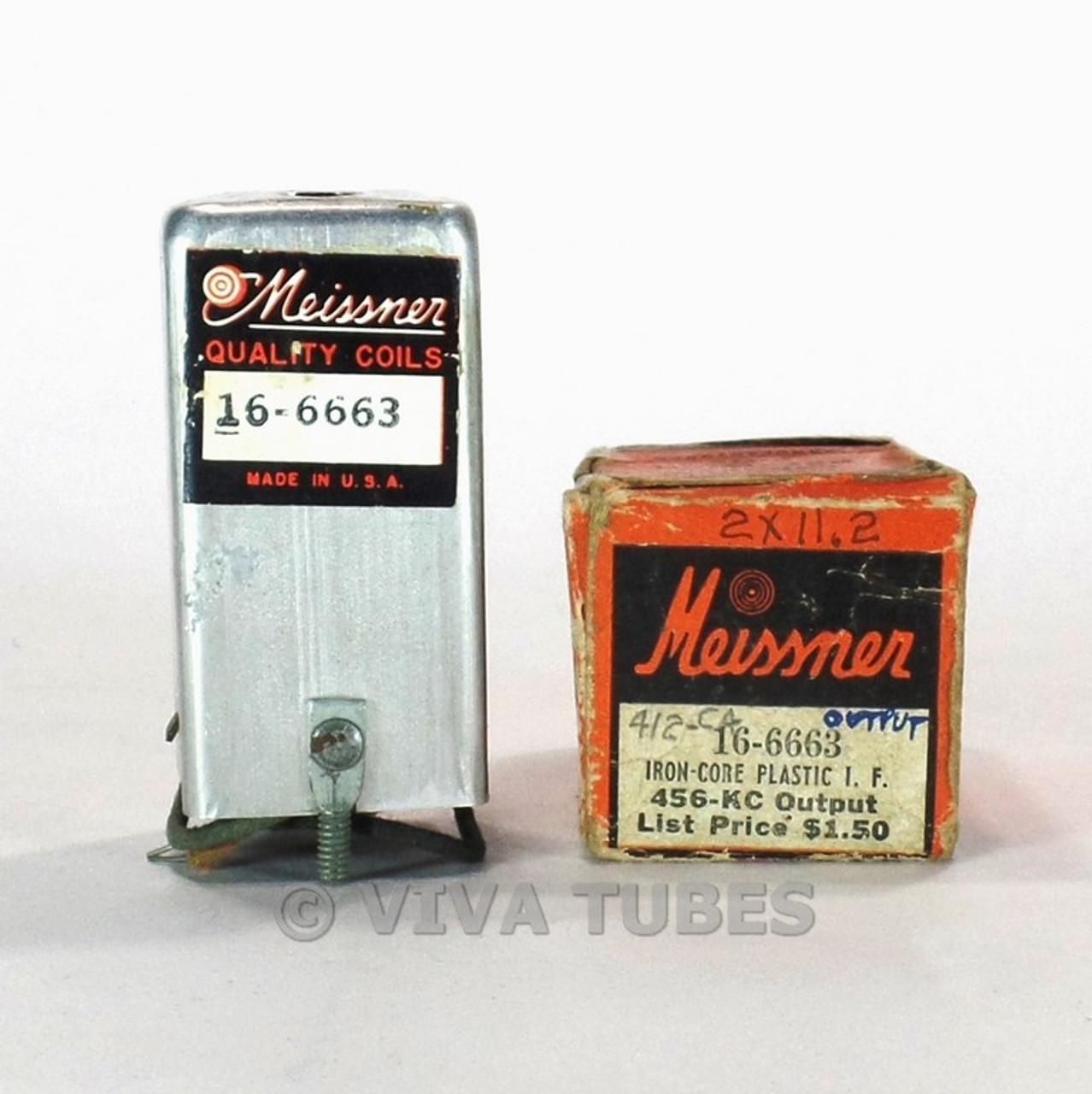 NOS NIB Vintage Meissner 16-6663 Iron-Core Plastic Radio Output IF  Transformer