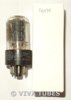 GE USA 12SN7GT Flat Black Plate Side Fat D Get Vacuum Tube 78/66%