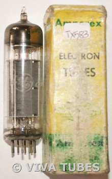 GE USA 6CW5/EL86 Gray Ribbed Plate Top O Get Vacuum Tube 73%