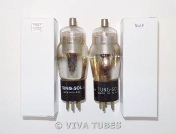 NOS Matched Pair Tung-Sol USA Type 24A Silver Mesh Plate D Foil Get Vacuum Tubes