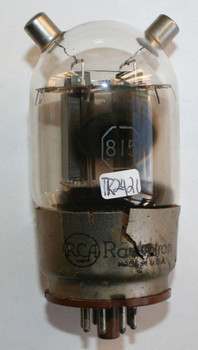 NOS RCA USA 815 Black Plate Side [] Getter Vacuum Tube 100%+