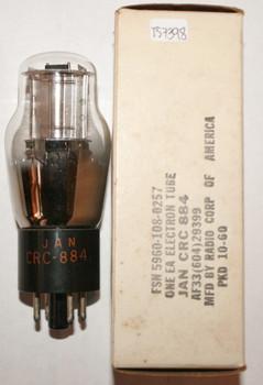 NOS NIB RCA USA JAN-CRC-884 Silver Plate D Get Vacuum Tube