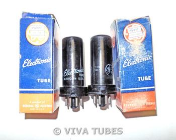 NOS NIB Matched Pair GE USA 6AG7 [6AK7] Metal Vacuum Tubes 100%