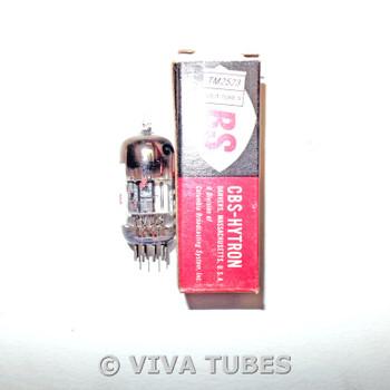 NOS NIB CBS-Hytron USA 6BK7A Black Plate Top Horseshoe Get Vacuum Tube 100+%