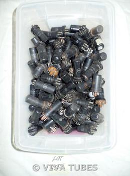 Mixed lot of 100+ Loose Metal Vacuum Tubes. 6SK7 6BS7 12SQ7 12SK7 12A6 12SG7
