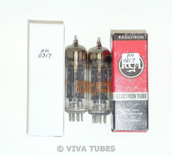 Hi-Fi Audio NOS NIB Date Matched Pair RCA 6X4 [] Dimple Foil Strip Vacuum Tubes