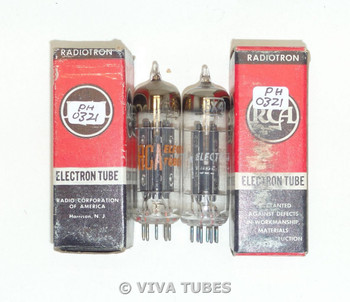 Hi-Fi Audio NOS NIB Matched Pair RCA 6X4 [] Dimple Foil Strip Get Vacuum Tubes
