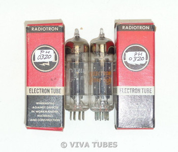 Hi-Fi Audio NIB NOS Matched Pair RCA 6X4 [] Dimple Foil Strip Get Vacuum Tubes