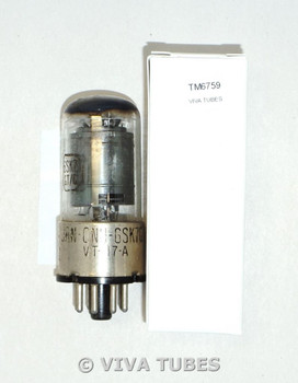 NOS National Union NU USA JAN-CNU-6SK7GT/VT-117A 2 Gray Plate Vacuum Tube