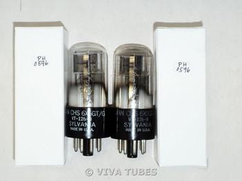NOS Matched Pair Sylvania JAN-CHC-6X5GT/VT-126B FOIL GETTER 3 Mica Vacuum Tubes