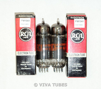 NOS NIB Matched Pair RCA US 8BQ5 Gray Plate Solid Disc Get Smoked Vacuum Tubes