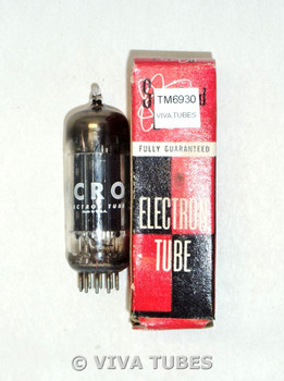 NOS NIB Micro USA 8CG7 [8FQ7] 3 Black Plate Top Fat D Get Vacuum Tube 100+%