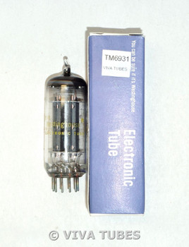NOS NIB Westinghouse USA 8FQ7/8CG7 Gray Plate Bridged Filaments Vacuum Tube