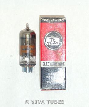 NOS NIB RCA Electron USA 12BZ6 Black Plate Top O Get Smoked Glass Vacuum Tube