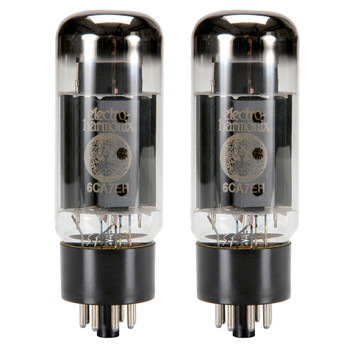 New Matched Pair (2) Electro-Harmonix 6CA7EH Fat Bottle Vacuum Tubes
