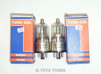 NOS NIB Date Matched Pair Tung-Sol USA 12Q7GT Half Grey Plate Vacuum Tubes
