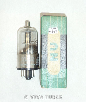 NOS NIB NU National Union USA 12Q7GT/G Black Plate BTM D Foil Get Vacuum Tube