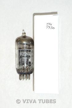 NOS Ken-Rad (by GE) USA 12AU7 Black Plate D Foil Strip Dimple Get Vacuum Tube