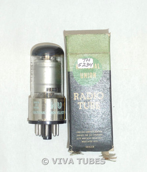 NOS NIB NU USA 12SK7GT Silver Plate Top [] Get Cracked Base Vacuum Tube 100+%