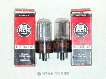NOS NIB Matched Pair RCA US 25Z6GT Black Plate [] Get Vacuum Tubes 100+%