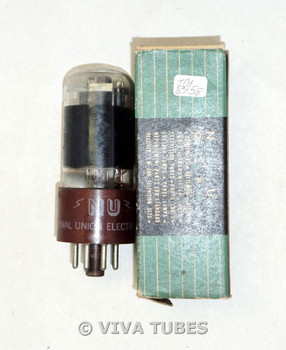 NOS NIB NU National Union USA 117L7GT = 117M7GT Smoked Brown Base Vacuum Tube