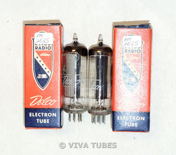 NOS NIB Date Matched Pair GM Delco USA 117Z3 Tall Black Plate Vacuum Tubes 100+%