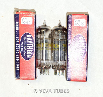 NOS NIB Date Matched Pair Raytheon USA 117Z3 Dimple Foil Strip Get Vacuum Tubes